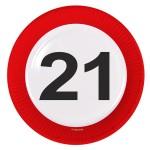 Borden verkeersbord 23 cm 21 jaar