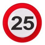 Borden verkeersbord 23 cm 25 jaar