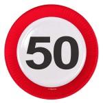 Borden verkeersbord 23 cm 50 jaar