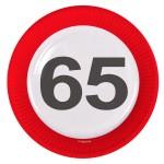 Borden verkeersbord 23 cm 65 jaar