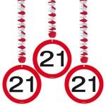 Decohanger verkeersbord 21 jaar