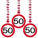Decohanger verkeersbord 50 jaar
