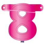 Banner letter cijfer 8 roze