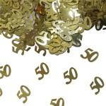 Tafeldecoratie sierconfetti 50 goud
