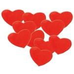 Hart Confettie XL rood