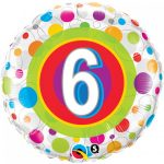 Folieballon colourful dots 6