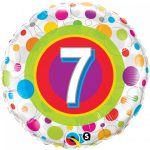 Folieballon colourful dots 7