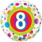 Folieballon colourful dots 8