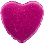 Folieballon heart holographic fuchsia