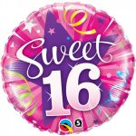 Folieballon sweet 16