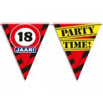 Partyvlaggen 18 jaar