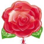 Folieballon bloeiende roos junior