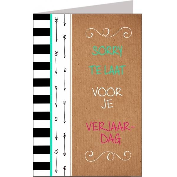 Sorry Te Laat Voor Verjaardag Feestartikelen Bestellen Sorry