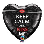 Folieballon keep calm and kiss me
