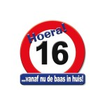 Huldeschild Hoera 16