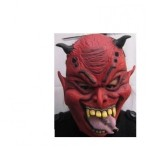 Latex masker duivel met piercing