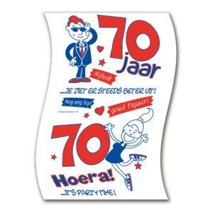 Toiletpapier 70 jaar hoera