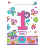 Uitdeelzakjes 1e verjaardag meisje