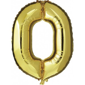 "Folieballon ""0"" goud"