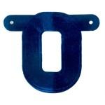 Banner letter O blauw metallic