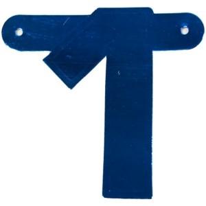 Banner letter 1 cijfer blauw metallic