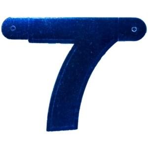 Banner letter cijfer 7 blauw metallic