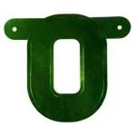 Banner letter O groen metallic