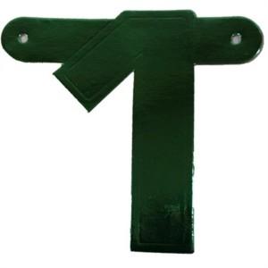 Banner letter cijfer 1 groen metallic