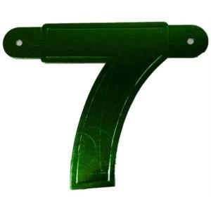 Banner letter cijfer 7 groen metallic