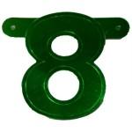 Banner letter cijfer 8 groen metallic