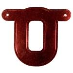 Banner letter O rood metallic