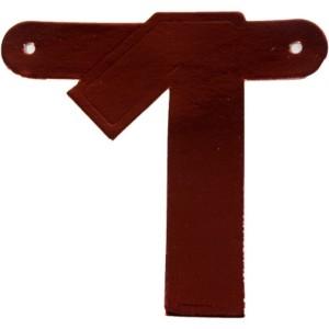 Banner letter cijfer 1 rood metallic