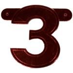 Banner letter 3 rood metallic