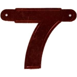 Banner letter 7 rood metallic
