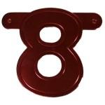 Banner letter cijfer 8 rood metallic