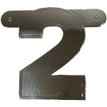 Banner letter cijfer 2 zilver metallic