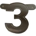 Banner letter 3 zilver metallic