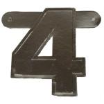 Banner letter 4 zilver metallic
