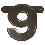 Bannerletter cijfer 9 zilver metallic