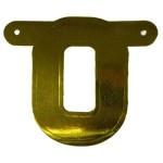 Banner letter O goud metallic