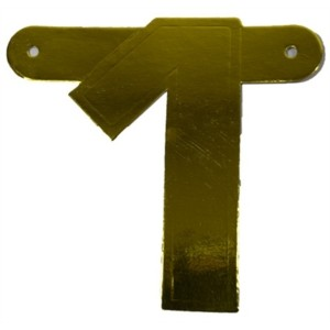 Banner letter cijfer 1 goud metallic