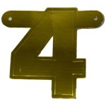 Banner letter 4 goud metallic