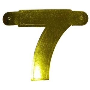 Banner letter cijfer 7 goud metallic