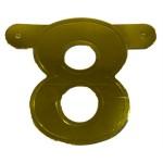 Banner letter cijfer 8 goud metallic