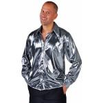 Overhemd folie metallic zilver