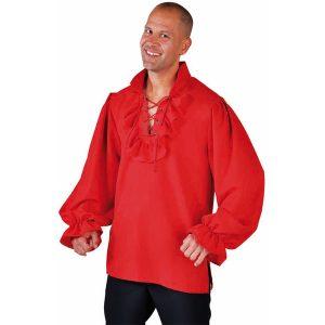 Hemd piraat rood