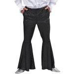 Disco broek pailletten zwart met rits