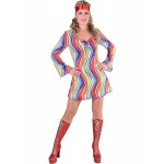 70s basic dress rainbow waves 1-delig