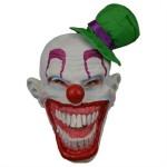 Masker clown met groene hoed
