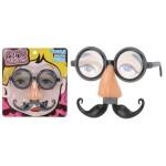 Partybril met neus en snor